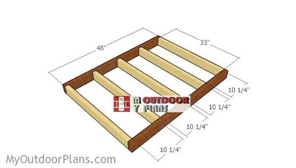 Building-the-floor-frame-dog-house