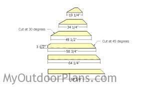 Building the saltbox ends slats