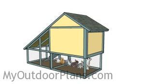 DIY Rabbit hutch plans - Back view