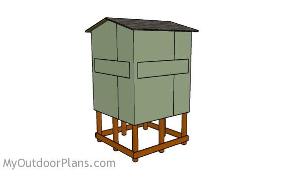 Elevated deer stand plans