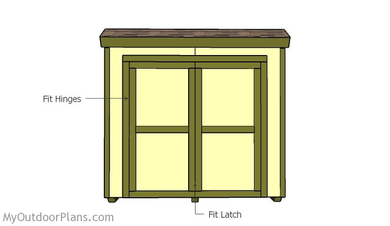 Double Shed Doors Plans