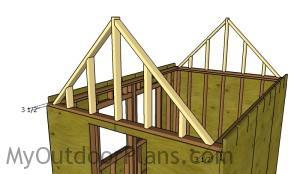 Fitting the gable frames