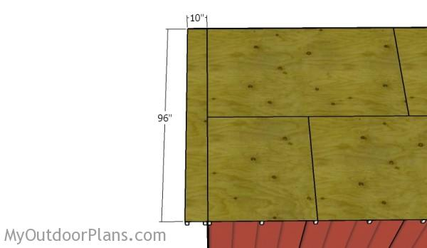 Fitting the plywood sheet - Overhangs