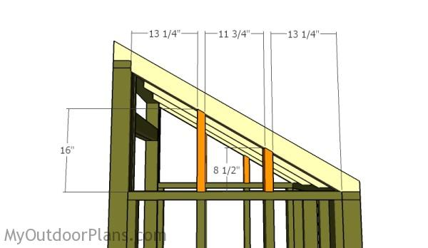 Fitting the rafter supports