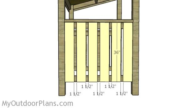 Fit the vertical rails