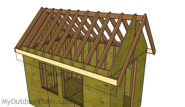 Fitting the side trims - Rafters
