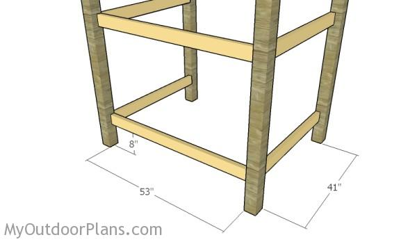fit the support rails