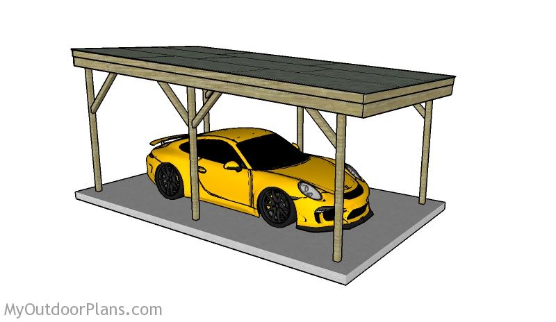Flat Roof Carport Plans | MyOutdoorPlans | Free Woodworking ... Ideas For Carport Concrete Anchor on concrete anchors for swimming pool, concrete anchors for mobile homes, concrete anchors for railings, concrete anchors for tents,