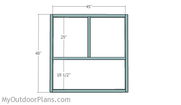 Framing the front and back walls