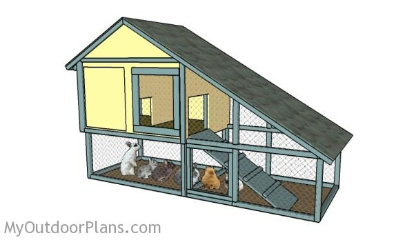 Free Rabbit Hutch Plans MyOutdoorPlans Free Woodworking Plans