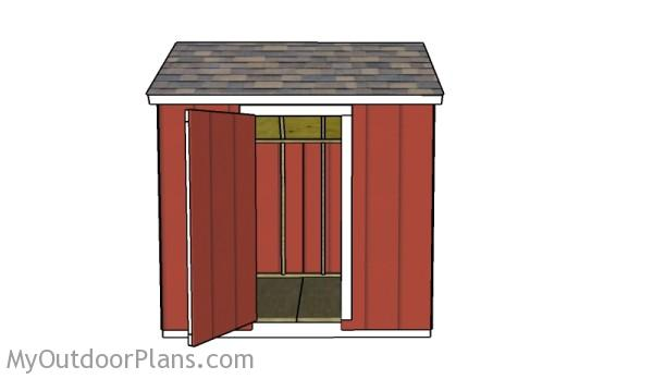 6x8 saltbox shed roof plans myoutdoorplans free for Free saltbox shed plans