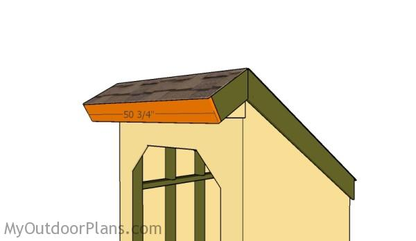 Front roof trim