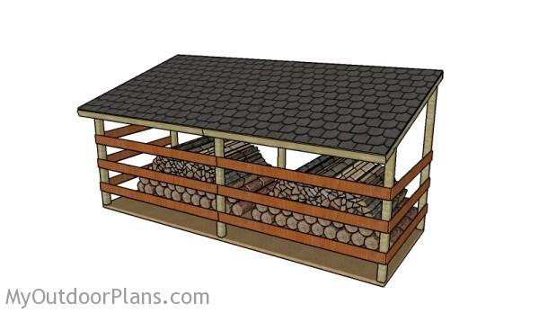 How to build a 4 cord firewood shed