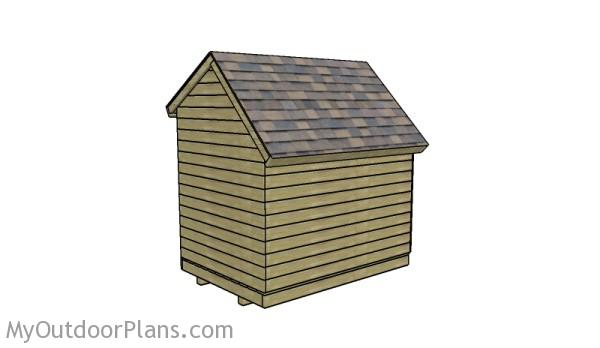 How to build a saltbox firewood shed