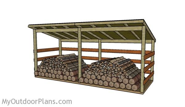 Large Firewood Shed Plans Myoutdoorplans Free