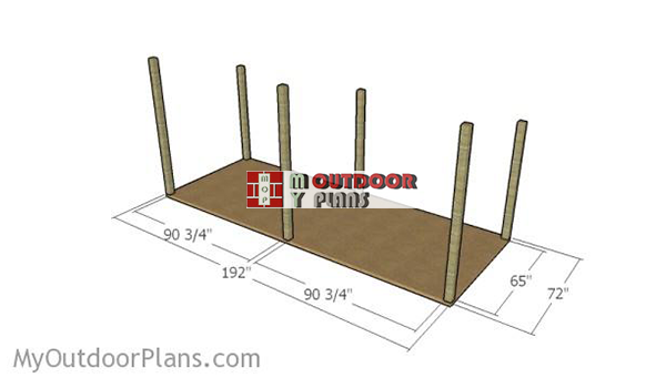 Laying-out-the-posts-for-shed