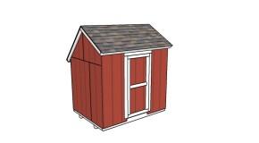 Portable 6×8 Saltbox Shed Plans
