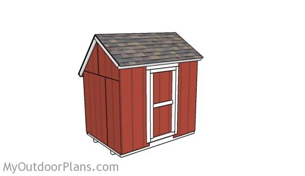 Do It Yourself Home Design: 6x8 Saltbox Shed Roof Plans