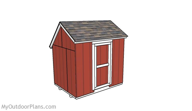 Portable 6x8 Saltbox Shed Plans
