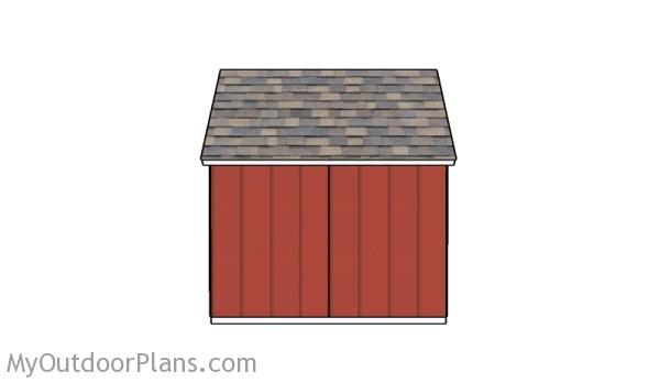 Saltbox shed - Back View