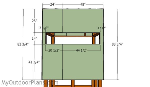 Elevated deer blind plans myoutdoorplans free for Box blind blueprints
