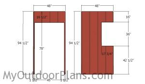Siding sheets for front wall