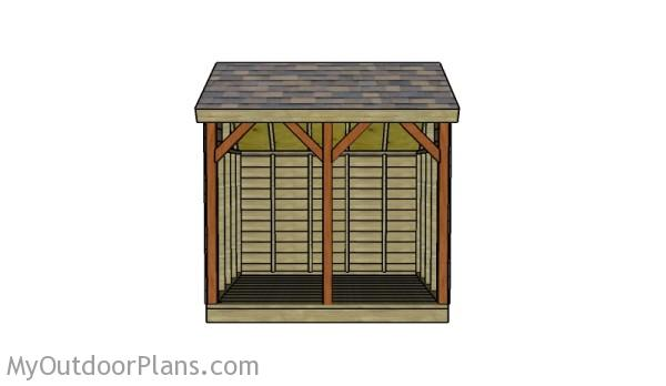 Stylish firewood shed plans