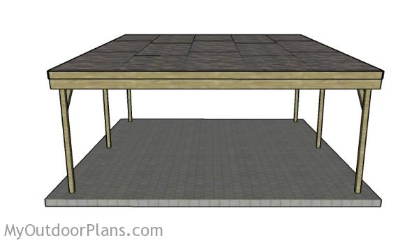 Two car Carport Plans