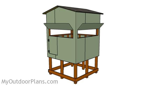 Elevated Deer Stand Roof Plans Myoutdoorplans Free