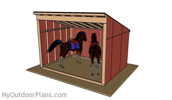 10x14 Horse shelter plans
