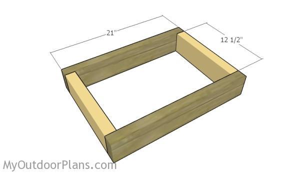 Assembling the seat frame