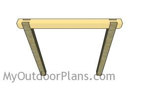 Assembling the swing set frame