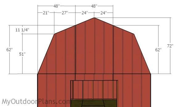 12x16 Gambrel Shed Roof Plans Myoutdoorplans Free