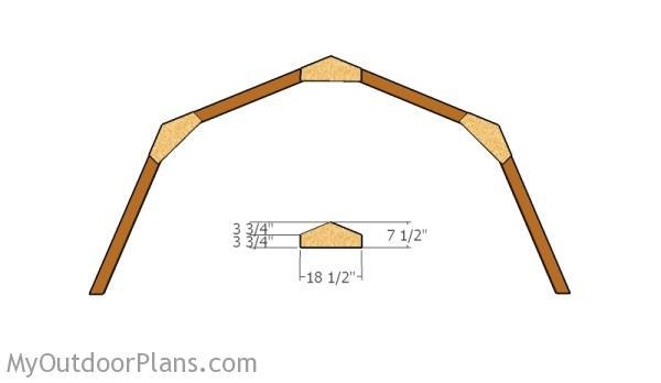 12x16 Gambrel Shed Roof Plans | MyOutdoorPlans | Free Woodworking Plans and Projects, DIY Shed ...