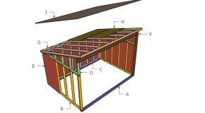 10×14 Horse Shelter Roof Plans