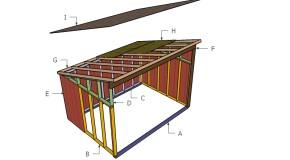 10×14 Horse Shelter Roof Plans