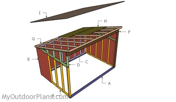 10x14 Horse Shelter Roof Plans | MyOutdoorPlans | Free Woodworking Plans and Projects, DIY Shed ...