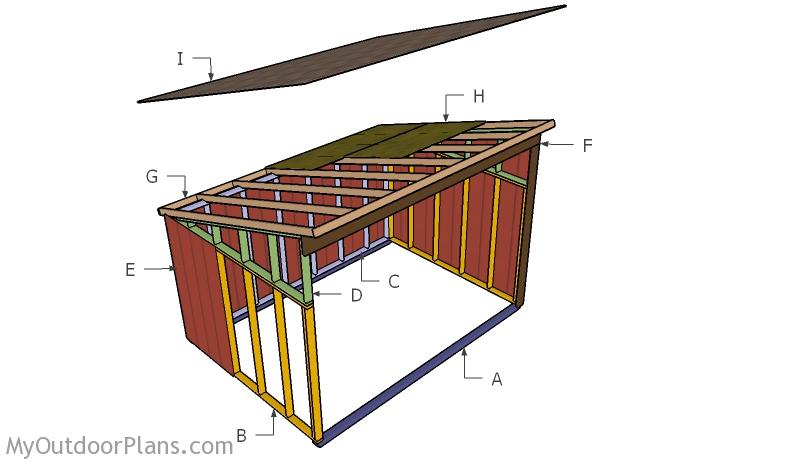 10x14 Horse Shelter Roof Plans