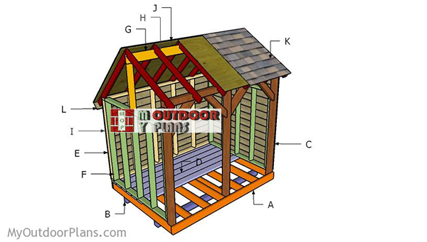 Building-a-6x8-firewood-shed