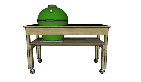 Building a XL big green egg table