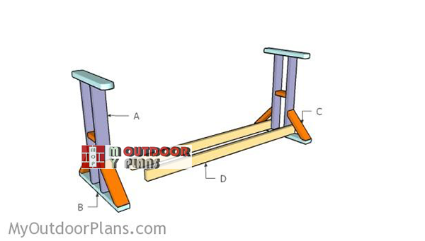 Building-a-glide-swing-stand