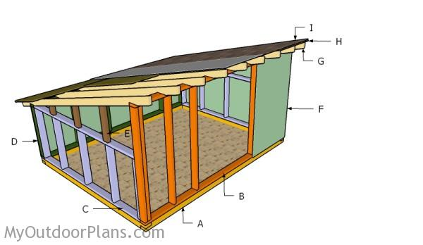 Building a hog shelter