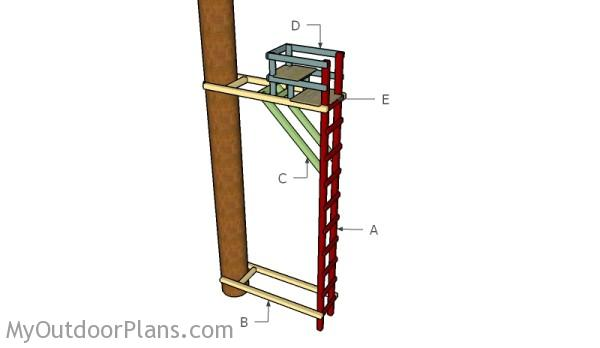 Building a ladder stand