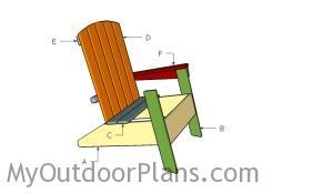 Building a modern adirondack chair