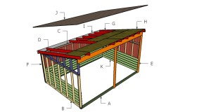 12×18 Run In Shed Roof Plans