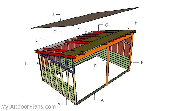12x18 Run In Shed Roof Plans