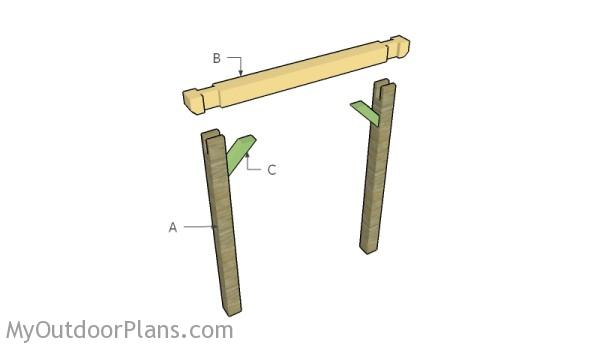 Building a wooden swing set