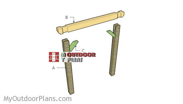 Building-a-wooden-swing-stand