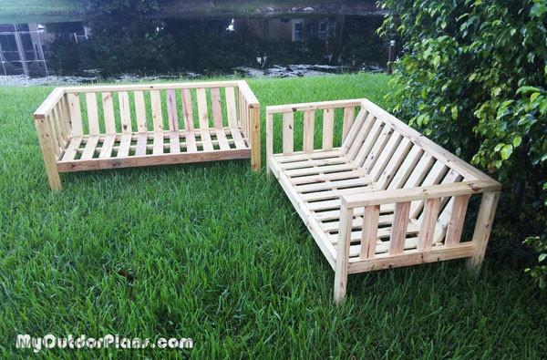 Diy outdoor couch myoutdoorplans free woodworking for Outdoor sofa plans