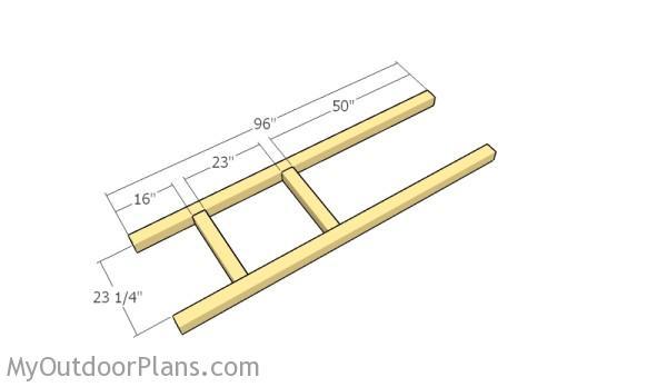 Building the horizontal frames